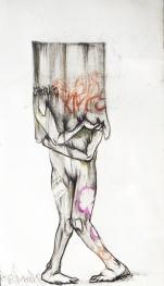 Propongo realizar una instalación de cinco esculturas de gran formato elaboradas en concreto, hierro y vidrio, estableciendo una relación de la geometría ortogonal y vertical de la arquitectura moderna con lo orgánico y natural del cuerpo humano, usando lo figurativo para hacer un vínculo de cómo está directamente conectado nuestro modo de pensar y el hecho de habitar