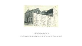 Mi investigación se basa en resaltar espacios arquitectónicos relevantes en la historicidad de Caracas, que en la actualidad han permanecido negados quedándose en el tiempo por nuestra desmemoria.