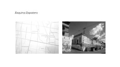 Intervención in situ con sellos y testo en la esquina Zapatero en La Pastora, Caracas. Este proyecto fue parte del primer ciclo de l programa de residencia artística de la Macolla Creativa.
