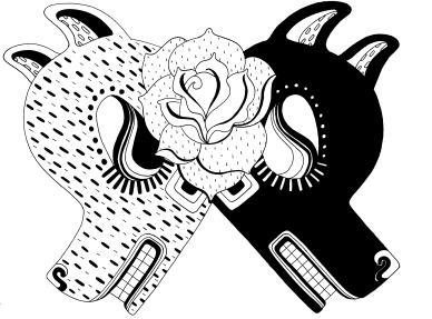 Es una aventura crear cada animal, todos estos trabajos se van concretando y en medio de esa búsqueda me encuentro los elementos que definen cada reinterpretación. Trabajo sobre la marcha, me interesa hacer collage, graffiti, muralismo, escultura, gráfica y pintar.