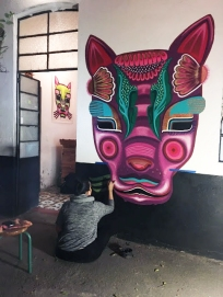 Andreina Acero / Intervención en Ciudad de México / Casa Espirituosa es un lugar polivalente que mezcla el arte, la cultura y el mezcal artesanal en un mismo espacio
